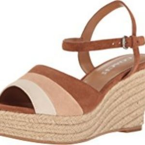 Coach Shoes - COACH Farren wedge sandal in Brown Leather upper.